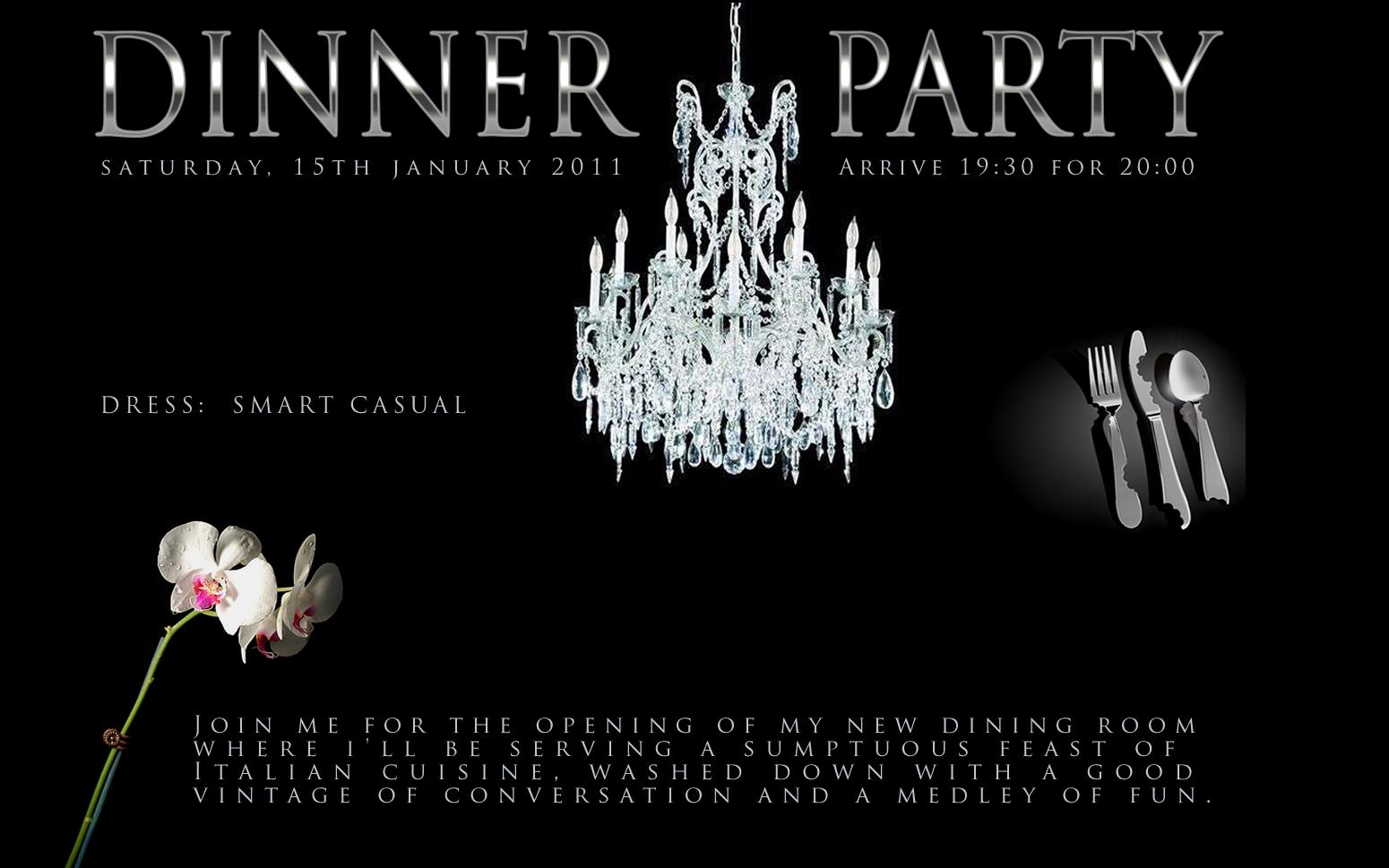 Birthday Dinner Invite was luxury invitation sample