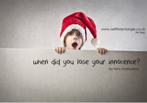 When did you lost your innocence?