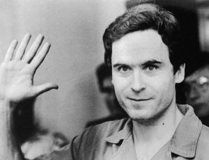 Close Up Portrait of Ted Bundy Waving