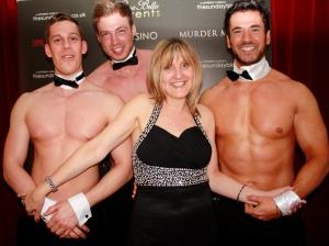 Karen Harber with Casa Bella Butlers, from left; Alex, Ben and Steven