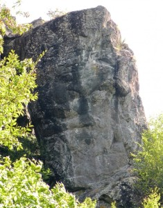 Can you see the face in this rock?